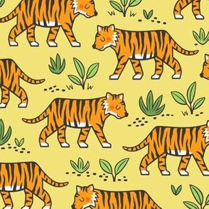 Jungle Tiger on Yellow