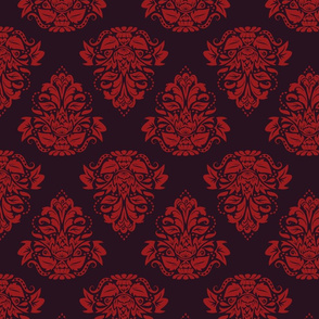 symetric damask | bordaux
