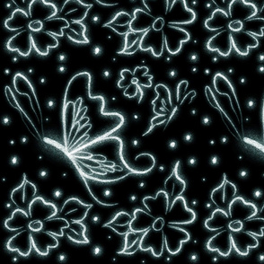 Glow butterfly floral