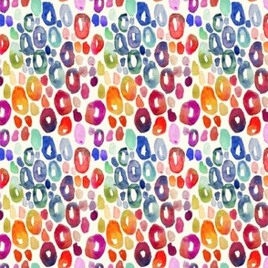 Rainbow Watercolor Animal Print (Tiny Size)
