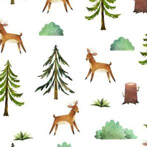 woodland deer outdoor animals
