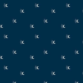 Moon light lunar magic universe minimalist abstract night nursery dreams navy blue SMALL