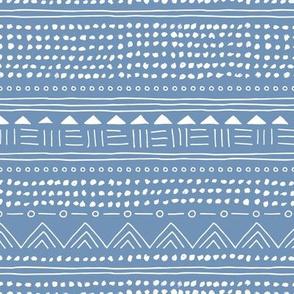 Minimal linen mudcloth bohemian mayan abstract indian summer love aztec design blue