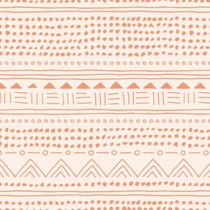 Minimal boho linen mudcloth bohemian mayan abstract indian summer love aztec design beige peach orange