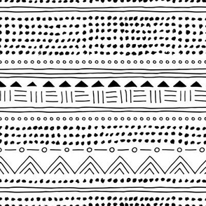 Minimal linen mudcloth bohemian mayan abstract indian summer love aztec design monochrome black and white