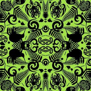 kiwi damask in lime green