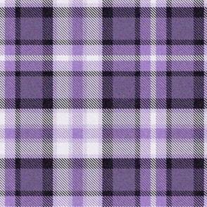 Amethyst Purple Four Square Plaid