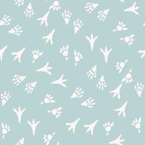 t rex prints fabric - tyrannosaurus rex fabric - dinosaur paw print, dinosaur foot print, dinosaur fabric - kids - soft earth
