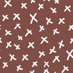 x fabric - chocolate brown, mocha fabric, bedding fabric, trendy muted colors fabric, nursery fabric, baby fabric - mocha