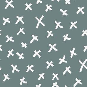 x fabric - chocolate brown, mocha fabric, bedding fabric, trendy muted colors fabric, nursery fabric, baby fabric -  teal