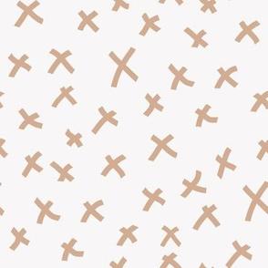 x fabric - chocolate brown, mocha fabric, bedding fabric, trendy muted colors fabric, nursery fabric, baby fabric -  tan