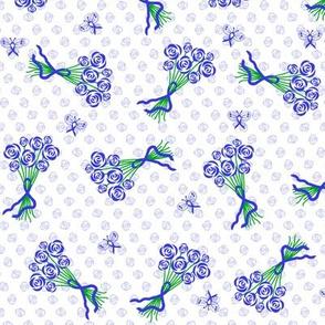 cancer ribbon bouquet blue
