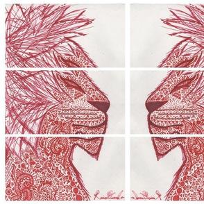 lion mirror