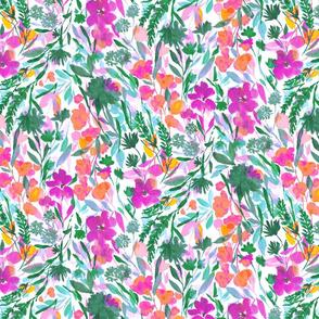 upside floral magenta green medium scale