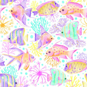 Tropical Fish in a Coral Reef