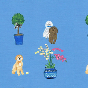 Dog Doodles and Chinoiserie