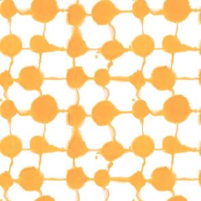 Connect Dots orange yellow medium scale