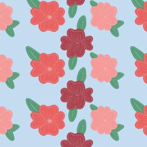 Applique flowers