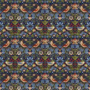 William Morris ~ Strawberry Thief ~ Bright  Blue ~ Medium