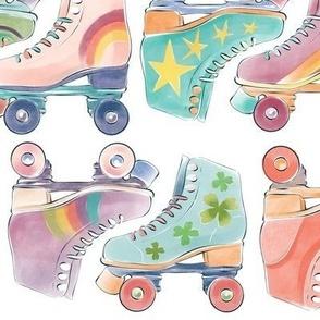 80s Retro Rollerskates