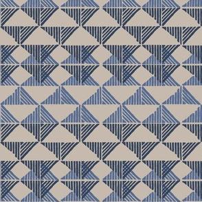 Blue Triangle Stripes