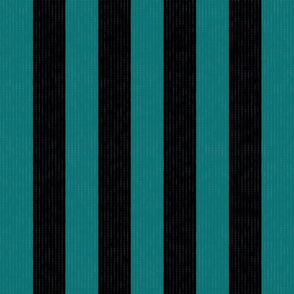 Teal & Black Stripes w/ Texture Effect (Large Size Print)