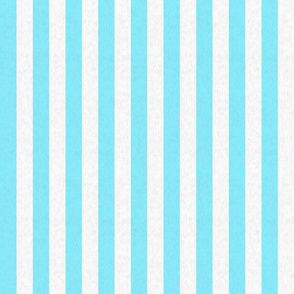 Baby Blue & White Stripes w/ Linen Effect