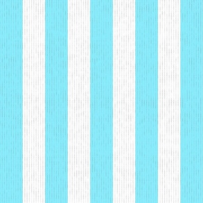 Baby Blue & White Stripes w/ Linen Effect (Large Size Print)