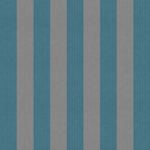 Retro Blue & Gray Stripes w/ Texture Effect (Large Size Print)