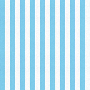 Soft Blue & White Stripes w/ Linen Effect