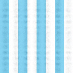 Soft Blue & White Stripes w/ Linen Effect (Large Size Print)