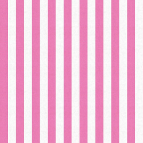 Pink & White Stripes w/ Linen Effect