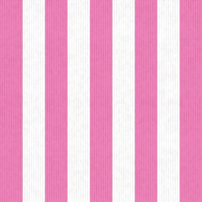 Pink & White Stripes w/ Linen Effect (Large Size Print)