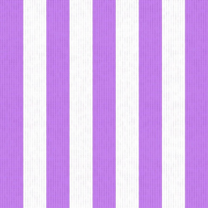 Purple & White Stripes w/ Linen Effect (Large Size Print)