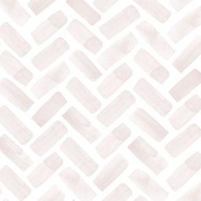 watercolor herringbone - light pink - LAD20