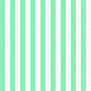 Teal Green & White Stripes w/ Linen Effect