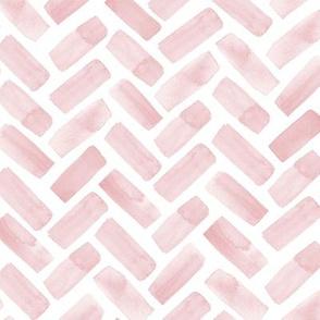 watercolor herringbone - pink - LAD20