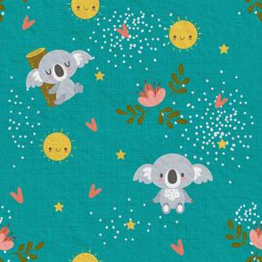 Good Night Koala Teal