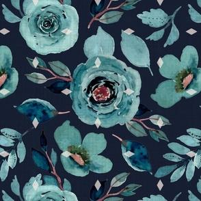 Gloria Blue Floral