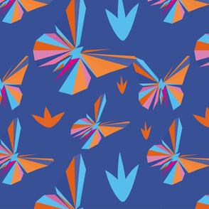 Butterfly in low poly style  design for your creativity