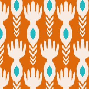 Tribal Orange Ikat