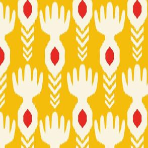 Tribal Yellow Ikat
