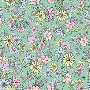 Groovy baby - Retro Floral