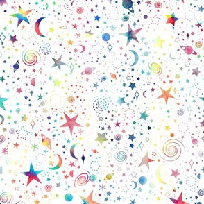 Rainbow Universe - white background - smaller scale