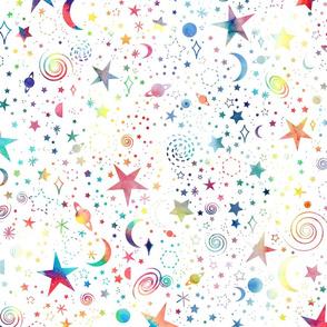 Rainbow Universe - white background