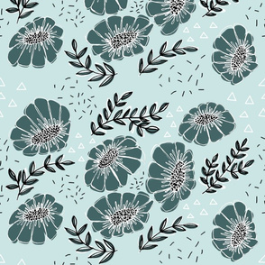 Pine and Mint Floral