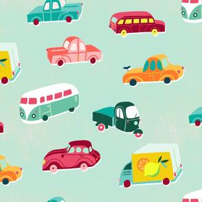 funny vintage vehicles mint