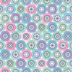 Watercolor wheels children