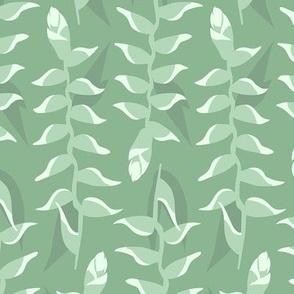 Heliconia Flower - Sage Green