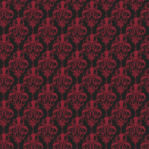 Squid Damask Ruby - Small Scale